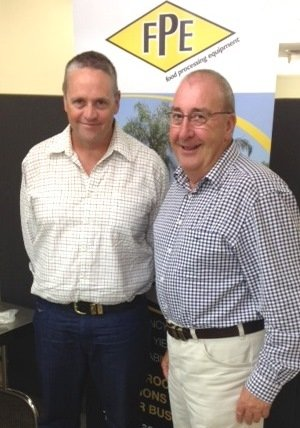 FPE's Brian Carey with new Qld territory manager, Greg Bulluss