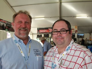 NCBA president J.D. Alexander with Cattle Council of Australia deputy director Jed Matz at Beef 2012