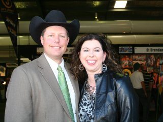 Troy and Stacey Hadrick at Beef 2012 last week.