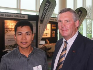 Arnel Corpuz and Anthony Struss at BeefEx 2012.