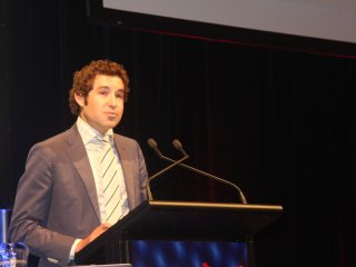 Bryce Camm addresses last week's BeefEx conference.