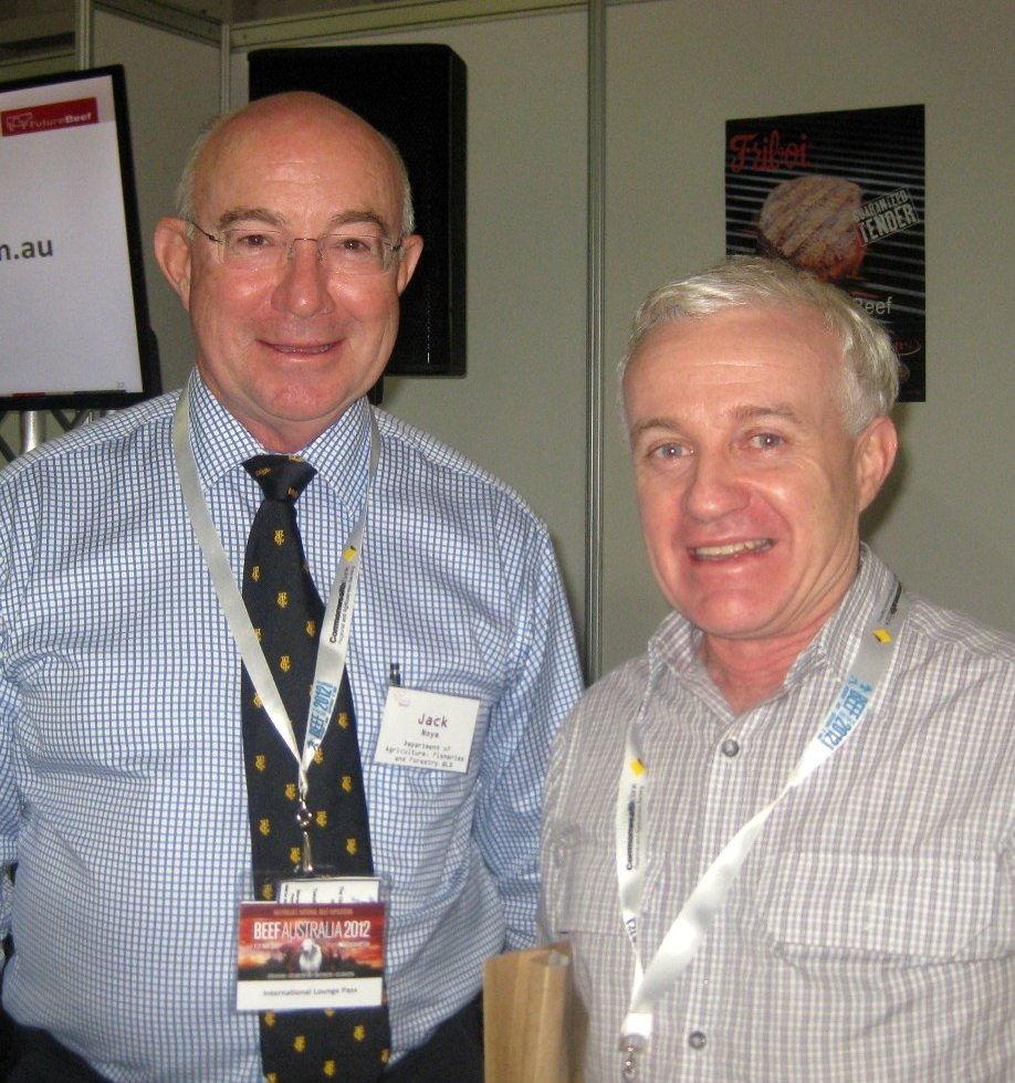 Newly-appointed Queensland Department of Agriculture, Fisheries and Forestry director-general Jack Noye (left) with Mick Sullivan, principal beef extension officer, Rockhampton.
