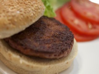 The world's first test-tube burger was taste-tested in London yesterday.