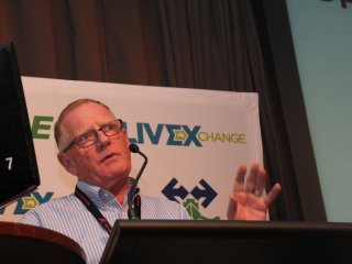 Tim Kelf addressing the LiveXchange Conference in Townsville earlier this month.