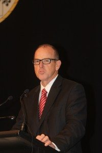 Agriculture minister Joe Ludwig addresses the 2013 NTCA conference in Alice Springs.