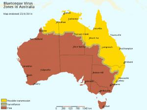 Bluetongue map May 2014