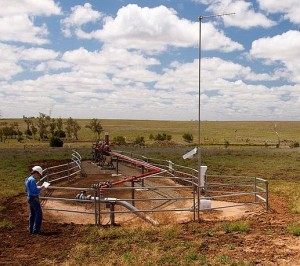 A coal seam gas well in a grazing paddock. Picture: www.naturalcsg.com.au