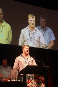 Rory Hart address the BeefEx conference.