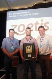 2014 Zoetis medal runner up James Jarrett and winner Rory Hart with Zoetis' Scott Pavey.