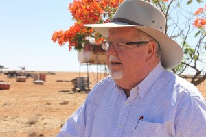 Senator Barry O'Sullivan pictured recently during a visit to Goodwood Station near Boulia in western Queensland.