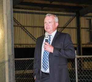Pat Gleeson addresses a Darling Downs Beef Xpo/TSBE networking function.