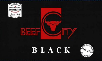 This new carton lid, marking 40 years of grainfed production this year at Beef City feedlot, will appear on Beef City Black cartons from later this year.