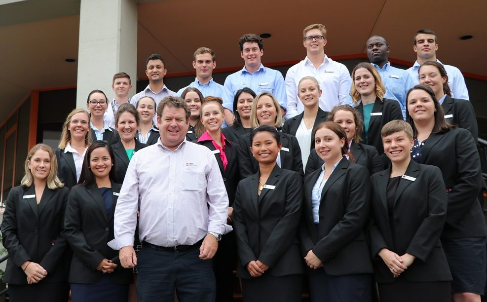 Khan Horne with NAB Agribusiness's record 2017 graduate intake