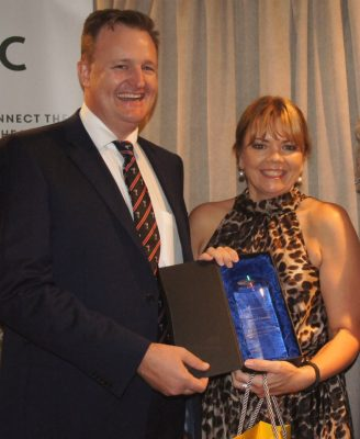 Notching-up 25 years service with CPC was Jacqui Cannon, chief development officer, with Troy Setter.