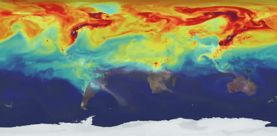 A year in the life of the Earth's CO2