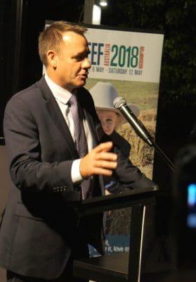 MLA MD Richard Norton addressing last night's Brisbane launch
